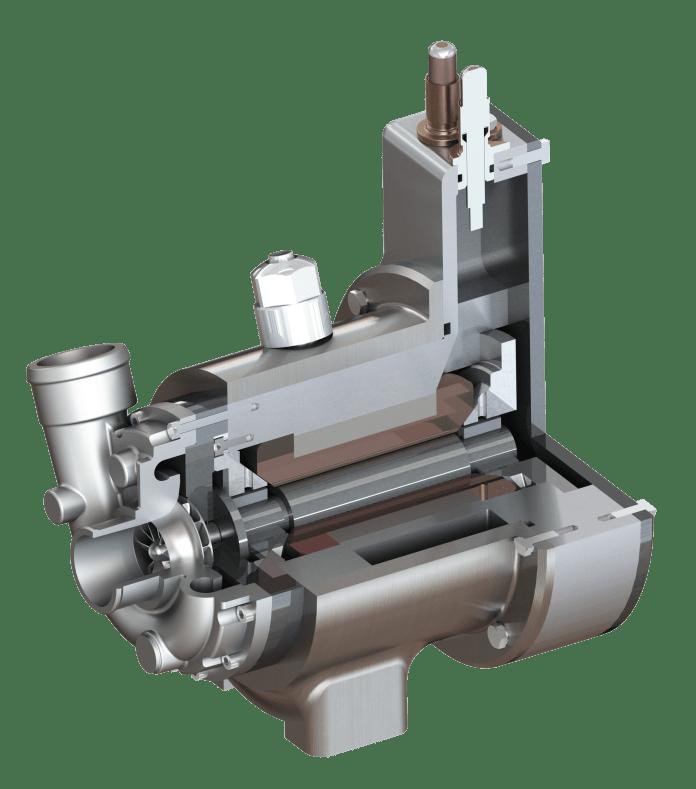 Cross sectional image of miniature compressor model